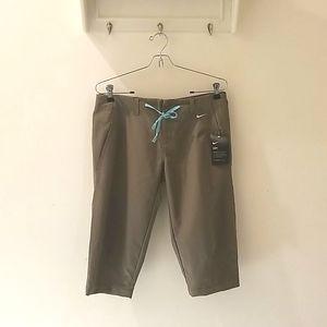 Nike Dri-Fit Athletic Pant in Khaki & Blue (S)